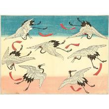 Utagawa Hiroshige III: Flying Cranes - Artelino