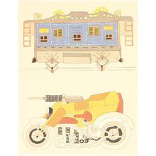 Kamei Tobei: Machine-gun Motorcycle - Kaleidoscope II - Artelino