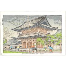 藤島武二: Rain in Higashi-Honganji Temple - Artelino