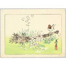 Shibata Zeshin: Sparrow on a Broom - Hana Kurabe - Artelino