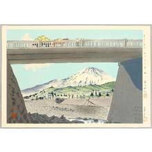 徳力富吉郎: Fujimi Bridge - Thirty-six Views of Mt. Fuji - Artelino
