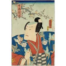 歌川国貞: Hero in Bird Kimono - Kabuki - Artelino