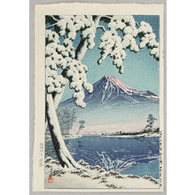 川瀬巴水: Mt Fuji after Snow - Tagonoura - Artelino