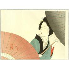 Tomioka Eisen: Beauty and Umbrella - Artelino