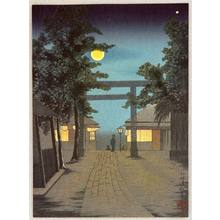 小林清親: Torii and Full Moon - Artelino