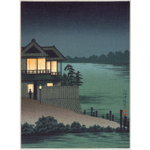 Kobayashi Kiyochika: Lighted House - Artelino