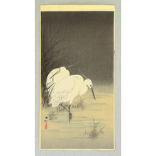 Ohara Koson: Two Egrets at Night - Artelino