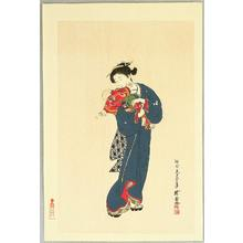 Kawanabe Gyosui: Mother, Child and Two Butterflies - Artelino