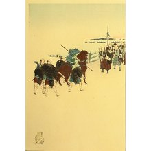 Toyohara Chikanobu: Morning after Snow - 47 Ronin - Artelino