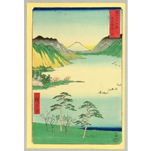 Utagawa Hiroshige: Lake at Suwa - Thirty-six Views of Mt.Fuji - Artelino