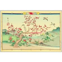 Utsushi Rinsai: Hawk and Red Plum - Artelino