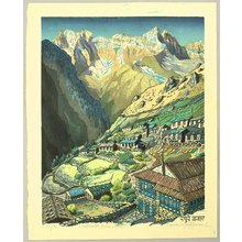 Morozumi Osamu: Village in the Himalayan Mountains - Nepal - Artelino