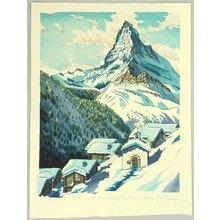 両角修: Viewing Mt. Matterhorn - Switzerland - Artelino