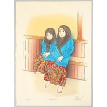 Okamoto Ryusei: Young Girls in Tutong - Artelino