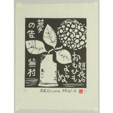 Onda Akio: A Short Night - Artelino