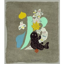 Okamura Kichiemon: Wave - Calligraphy - Artelino