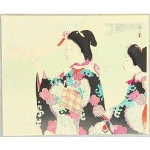 Tsukioka Kogyo: Viewing Cherry Blossoms - Artelino