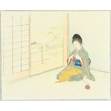 梶田半古: Knitting in a Room - Artelino