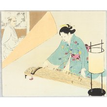 Mizuno Toshikata: Samurai and Koto Player - Artelino