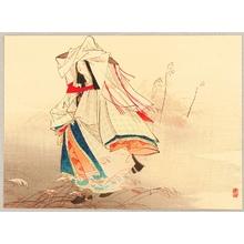 梶田半古: Bijin in Heian Period - Artelino