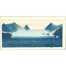 Yoshida Toshi: Hope Bay - Glacier and Orca - Artelino
