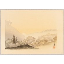 Ogata Gekko: Mt.Fuji at Dawn - One Hundred Fuji - Artelino