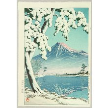 川瀬巴水: Mt. Fuji After Snow - Tagonoura - Artelino