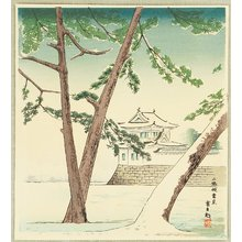 Tokuriki Tomikichiro: Nijo Castle in Snow - 15 Views of Kyoto - Artelino