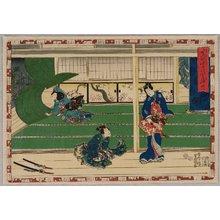 歌川国貞: Gust of Wind - The Tale of Genji - Artelino