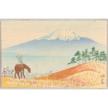藤島武二: Mt. Fuji and Horse Rider - Artelino