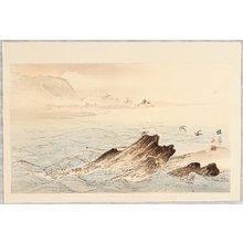 Takeuchi Seiho: Sea Birds over Rocky Shore - Twelve Mt. Fuji - Artelino
