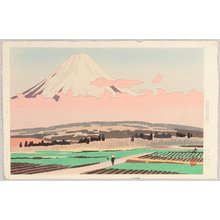 Kusaka Kenji: Mt.Fuji is seen around Miya - Artelino