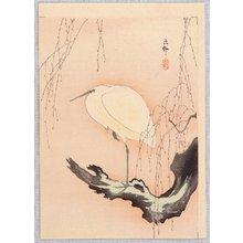 Ohara Koson: Egret on Willow Tree - Artelino
