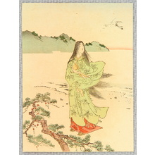 富岡英泉: Beauty and Crane - Artelino