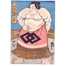 Utagawa Kuniyoshi: Marugame Genkai aratame Nio - Artelino
