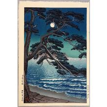 Kawase Hasui: Moon at Enoshima - Artelino