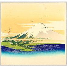 Ogata Gekko: Mt.Fuji and Lake - Artelino