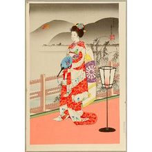 代長谷川貞信〈3〉: Maiko in Summer - Artelino