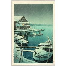 Kawase Hasui: Snow at Mukojima - Artelino