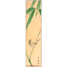 Watanabe Seitei: Bush Warbler and Bamboo - Artelino