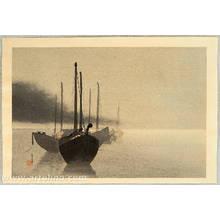 Watanabe Seitei: Boats in the Mist - Artelino
