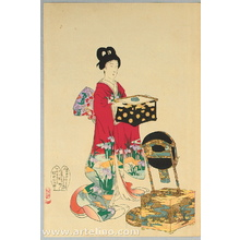 豊原周延: Dressing Up - Ladies at Chiyoda Palace - Artelino