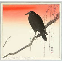 静湖: Crow on a Snowy Branch - Artelino