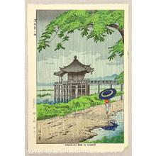 藤島武二: Drizzling Rain in Ukimido - Artelino
