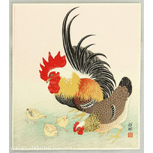 小原古邨: Chicken Family - Artelino