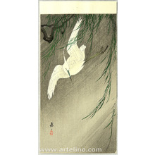Ohara Koson: Egret in Storm - Artelino