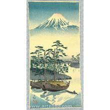 Kobayashi Kiyochika: Mt. Fuji and Sail Boats - Artelino