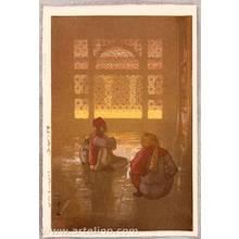 Yoshida Hiroshi: A Window in Fatehpur-Sikri - Artelino
