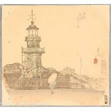尾形月耕: Light Tower at Kudan - Artelino