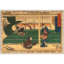 歌川国貞: The Tale of Genji - Gust of Wind - Artelino